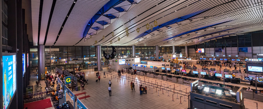 Hyderabad International Airport using video from COVID-19